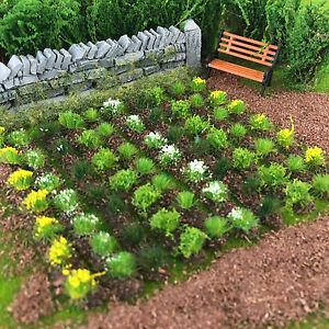 Farm-Crops-x10-Set-02-Model-Railway-Static-Grass-Tufts-Garden-Field-Allotment