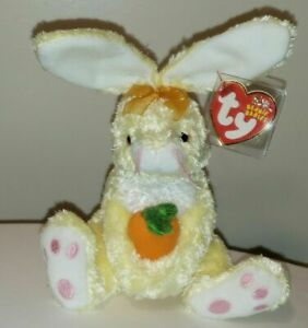 Ty Beanie Baby - NIBBLIES the Bunny Rabbit with Carrot (8 Inch) MINT w/ MINT TAG