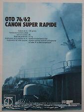 5/86 PUB OTO MELARA LA SPEZIA 76/62 RAPID GUN MOUNTING NAVIES CANON FRENCH AD