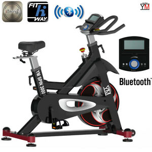 bici da spinning bike magnetica ym cardio spinbike bicicletta fitness bluetooth ebay. Black Bedroom Furniture Sets. Home Design Ideas