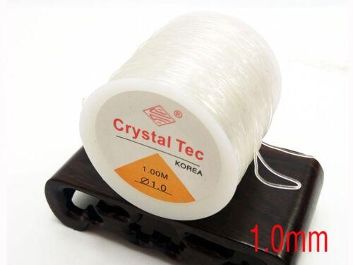 One Spool Clear Crystal String Stretch Elastic Beading Cord Thread 0.5mm-1.5mm