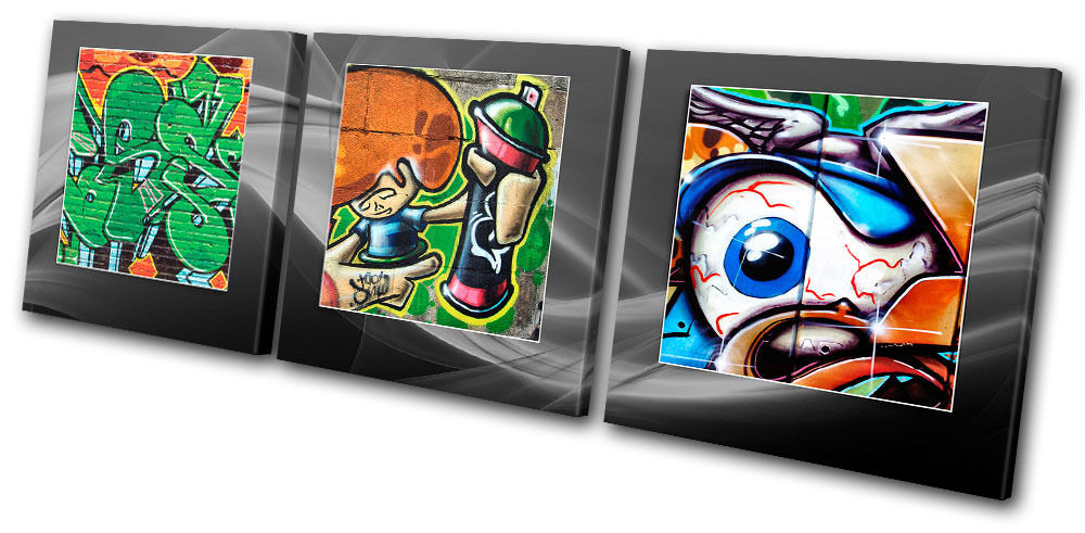 Graffiti Abstract Funky arte TREBLE LONA pared arte Funky Foto impresion b50419