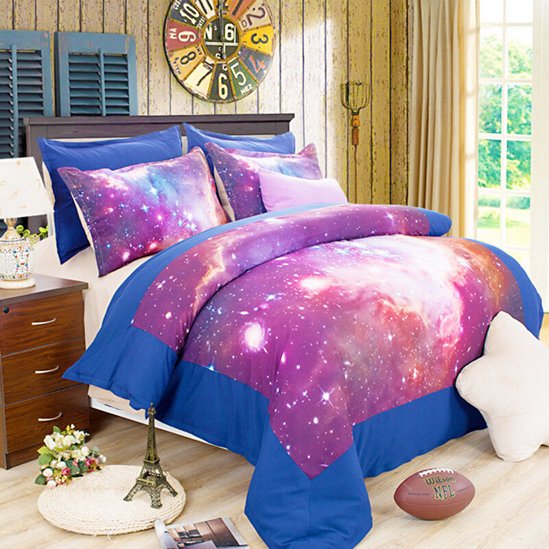 3D Starry Sky 6759 Bed Pillowcases Quilt Duvet Cover Set Single Queen AU Carly