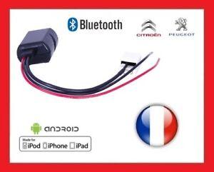 CABLE-PREMIUM-BLUETOOTH-AUXILIAIRE-MP3-AUTORADIOS-D-039-ORIGINE-Peugeot-Citroen