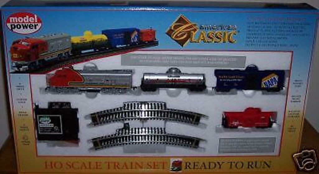 HO  TRAINS  DIESEL TRAIN SANTA FE SET   MODEL POWER AMERICAN CLASSIC
