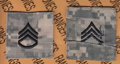 US ARMY Enlisted STAFF SERGEANT SSG E-6 rank ACU Hook-n-Loop chest patch
