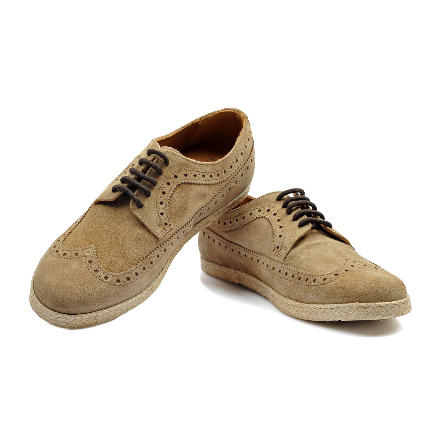 Canali Beige Suade Oxford Shoe Size US 8 NEW CSH43