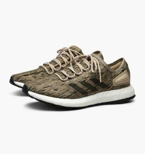 Brand New Adidas Pureboost Running Sneaker shoes BB6282 Khaki White Men's New 10