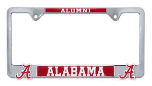 Alabama NCAA Black Metal License Plate Frame Second Generation Alumni Version