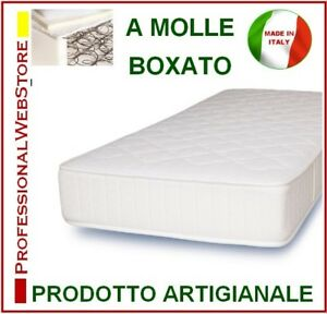 MATERASSO letto SINGOLO MOLLE ORTOPEDICO 80X190x20 materassi ...