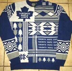 Vintage-Toronto-Maple-Leafs-Christmas-Ugly-Sweater-NHL-Hockey-90s-Retro-Large