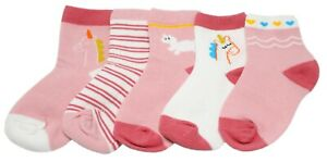 Baby//Girl Pack of 2 Super Soft Lace Frilly PINK Ankle Socks Age 1 2 3 4 5 6 7 8 9 10