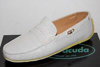Barracuda Men's Gray Suede Polka Dot Loafer Shoes Size 12