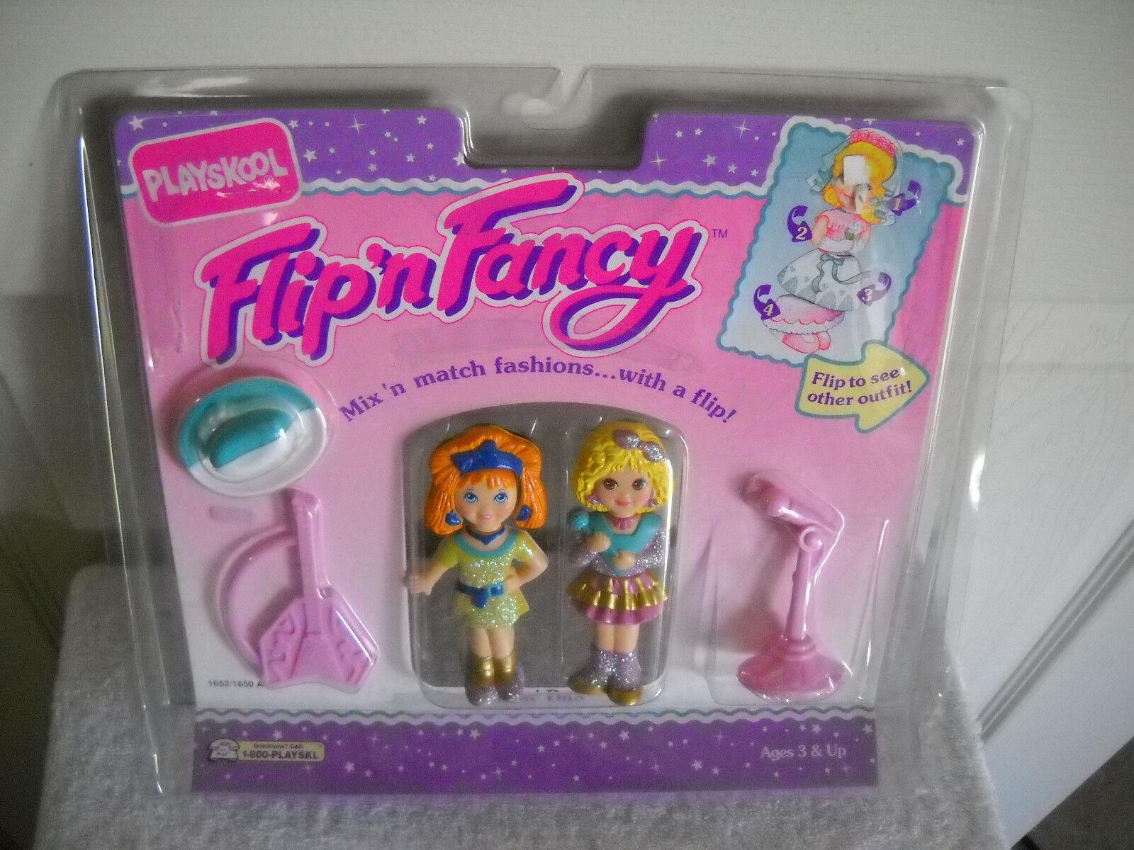 Nip Vintage Playskool Flip N Fancy Bailando Duo Muñecas