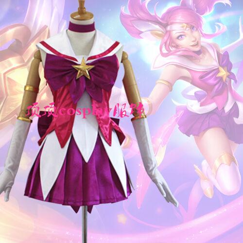 League of Legends La Dame de la luminosité Lux star gardien Skins Cosplay Costume avec coiffure