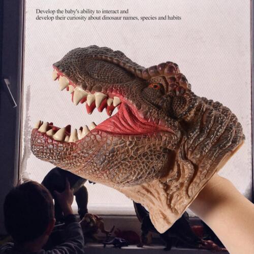 Títeres De Mano Dinosaurio Tiranosaurio Rex realista juego de rol cabeza Guantes Molde De Juguete