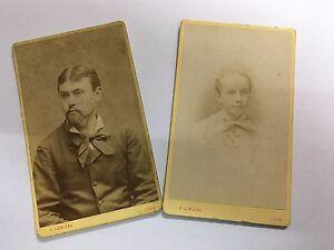 Carte-de-visite-2-cdv-albumine-albumen-A-Lumiere-1874
