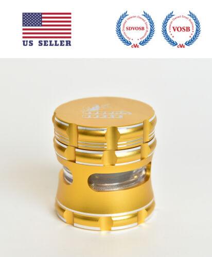 Gold BuddhaBuzzz 2.5 Inch Aluminum Herb//Tobacco Grinder