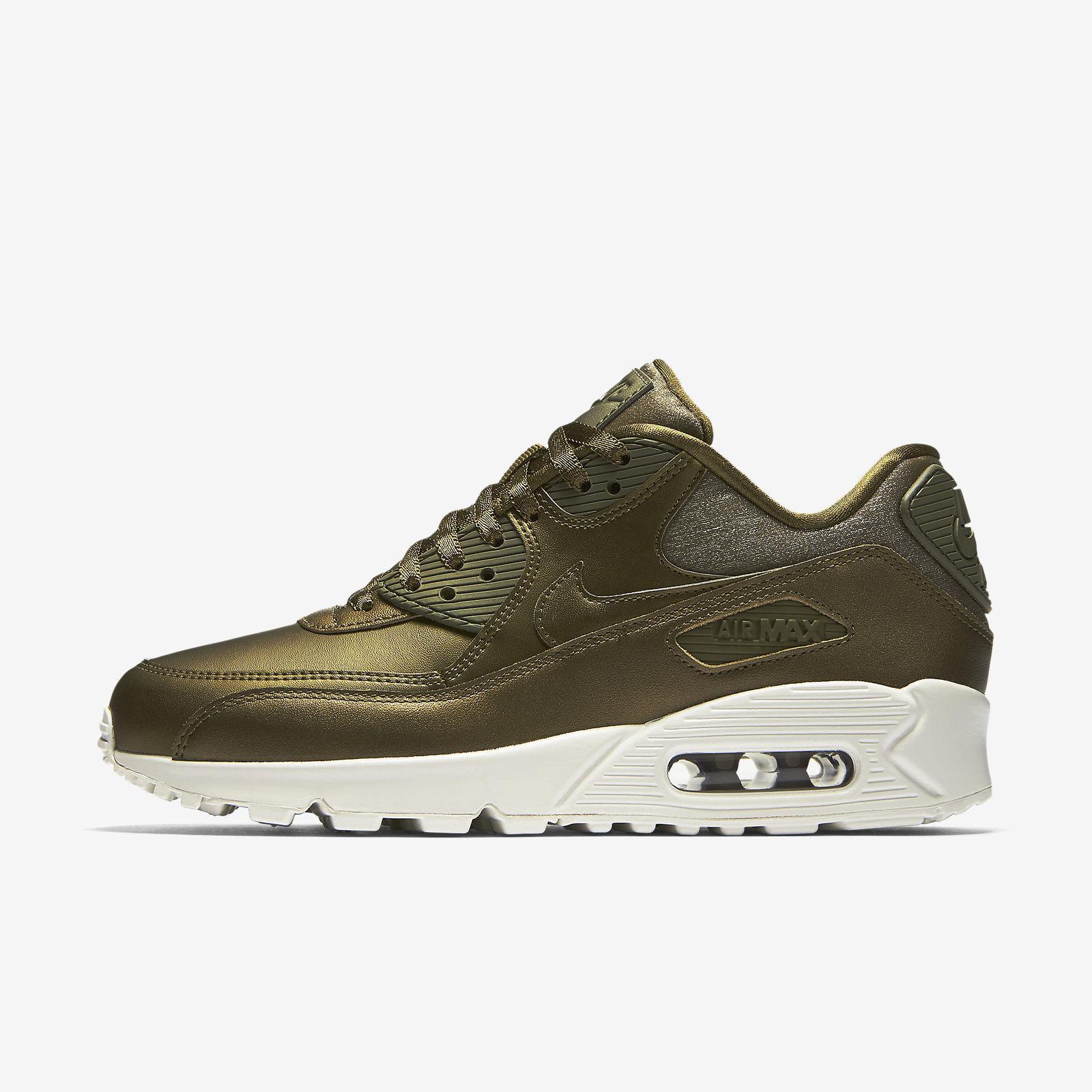 New Nike femmes (896497-901) Air Max 90 Premium Chaussures (896497-901) femmes Metallic Field 822eb0