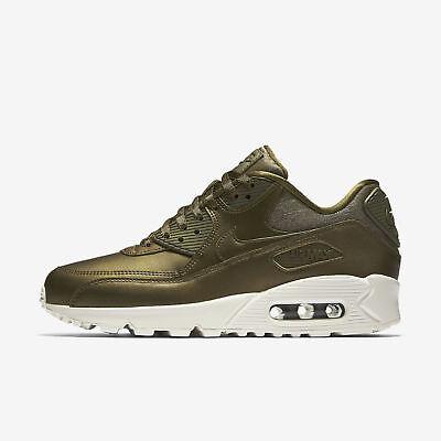 New Nike Women's Air Max 90 Premium Shoes (896497 901) Metallic Field | eBay