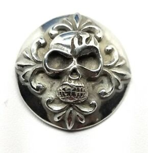 skull-concho-snap-silver-leather-Gothic-biker-solid-belt-wallet-screw