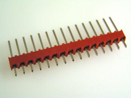 PCB SIL Pin Header 0.1 pollici Pitch verticale Range 12-18 VIE 10 PEZZI EB7