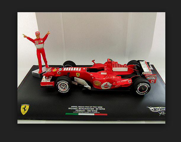 Ferrari F248 M.Schumacher Winner GP GP GP Monza 2006 J2994 Base pelle 1/18 Hot Wheels | Dernière Arrivée  560b52