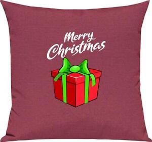 Kinder Kissen, Merry Christmas Geschenk Frohe Weihnachten, Kuschelkissen Couch D