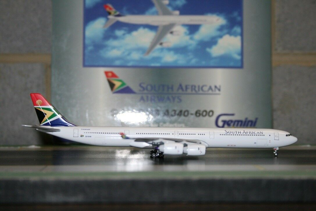 Gemini Jets 1 400 South African Airways Airbus A340-600 ZS-SNB (GJSAA382)