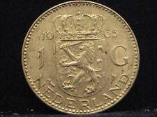 Niederlande 1 Gulden, 1965 Königin Juliana  Silber % 720  nr208