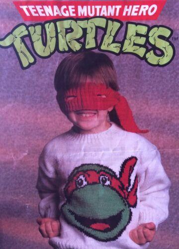 Teenage Mutant Hero Turtles Jumper /& Bandana Knitting Pattern