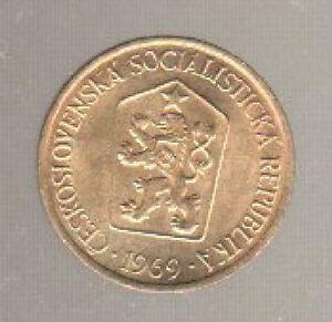 CECOSLOVACCHIA-1-KORUNA-1969-FDC-KM-50-CORONA-eskoslovensko-mrm