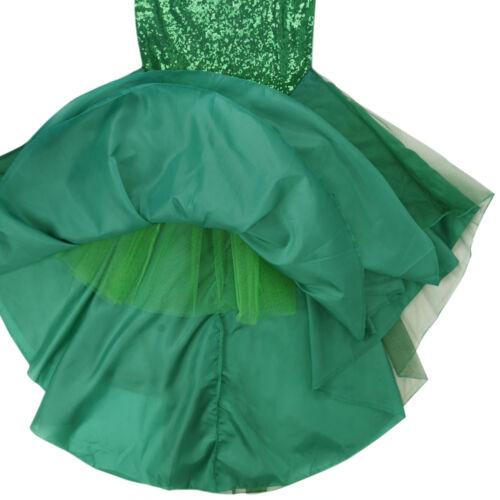 Femme Sirène Costume cosplay Halloween Party orné de sequins Robe Longue Queue Jupe