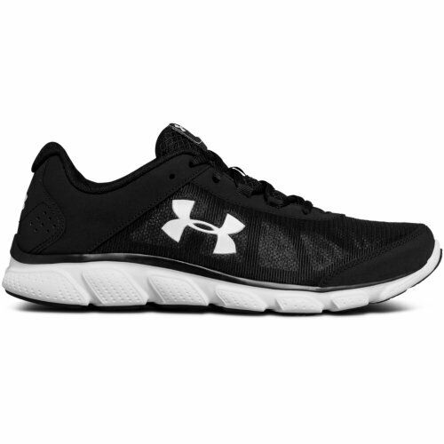 NEW Under Armour Men/'s Micro G Assert  Running Shoes Blk//Wht #1266224 141KLM mz