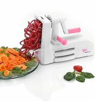 Deluxe Spiralizer Slicer Tri Blade, Compact, Cleaning Brush, Free Shipping