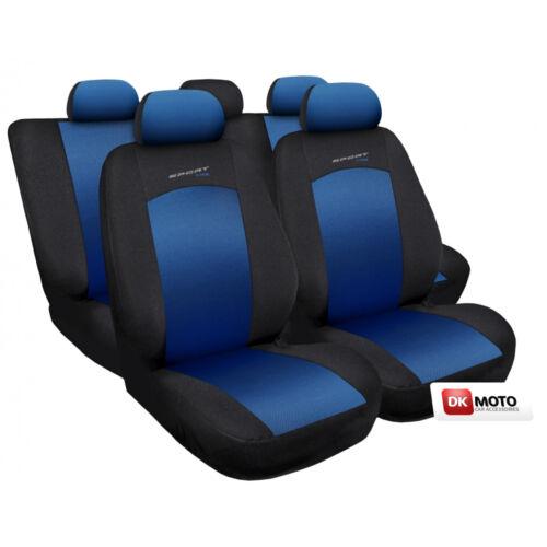Seat covers universal full set fit  Skoda Octavia   blue//black Sport Line