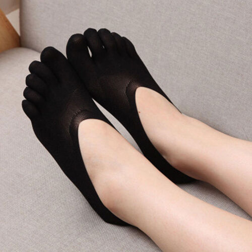 3 Pairs Women Casual Ankle Socks Five Toe Finger Low Cut NO Show Boat Sock