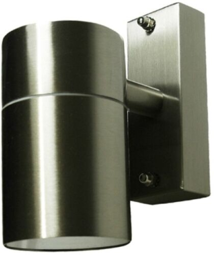 Hispec Stainless Steel LED Garden Down GU10 Lamp IP44 Outdoor Wall Spot Light
