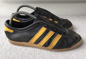 Adidas-Vintage-70-s-Mens-Blackbird-Trainers-Black-Yellow-Size-UK-7
