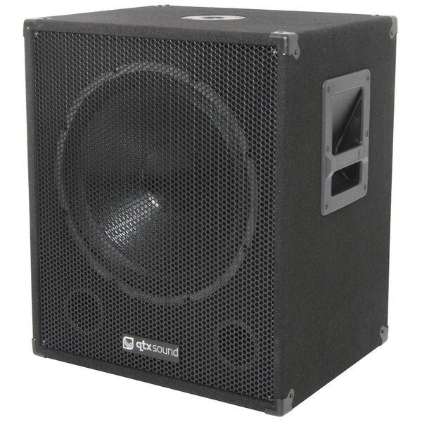 "QTX Sound QT15SA 15"" Active Powered 600W PA DJ Subwoofer Sub Bass Bin SINGLE"