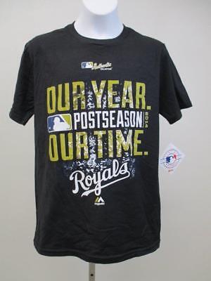 "Team Sports Adaptable New Kansas City Royals Youth Sizes M Medium Black ""our Year"" Shirt"