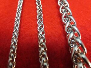 3-4-7-8-MM-Mens-7-40-034-STAINLESS-STEEL-SILVER-BRAIDED-WHEAT-ROPE-CHAIN-NECKLACE