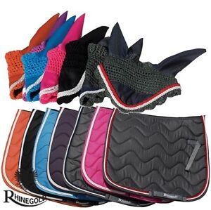 Rhinegold-Elite-Wave-Saddlepad-Fly-Veil-Set-Pony-Cob-or-Full-Size-7-COLOURS