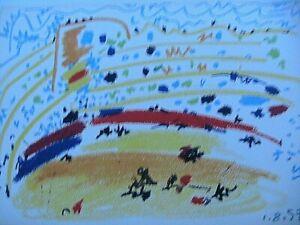 Pablo-Picasso-Toros-Y-Toreros-1961-Color-Lithograph-Print-Arena-Limited-Edition