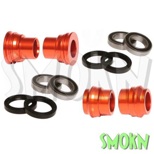 RFX F/&R Wheel Spacers Bearings /& Seals fit KTM 450 500 EXC-F 16-20 Orange
