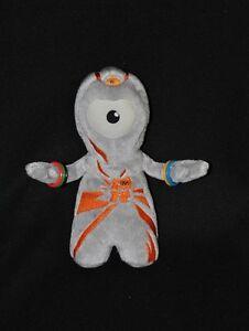 Peluche-doudou-mascotte-officielle-J-O-Londres-2012-gris-orange-21-cm-TTBE