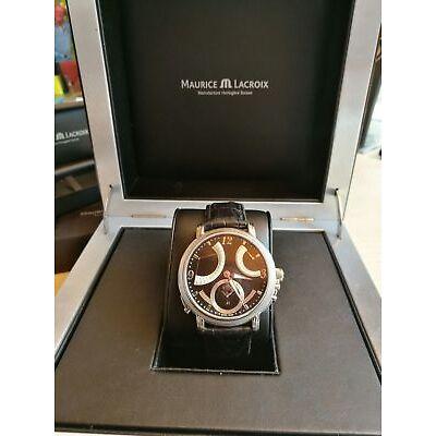 Maurice Lacroix Masterpiece Calendrier Retrograde Armbanduhr für Herren MP7068-S