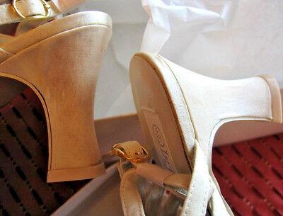 Desgaste de la Danza Zapatos de novia dama de honor satén 4 EUR 37 Damas Sandalias Baile de graduación