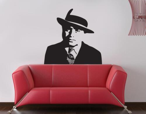 Gangster Al Capone WALL STICKER Decal Art Mural Stencil Silhouette ST154