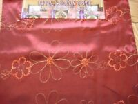 Burgundy Sequence Gold Flowers Cushion Pillow Cover